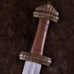 Vikingzwaard eiland Eigg, leren grip, getemperd