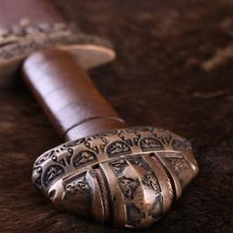 Wikingerschwert Insel Eigg, Ledergriff, temperiert