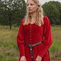 Fluwelen cotehardie Christina, rood