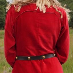 Velvet cotehardie Christina, red