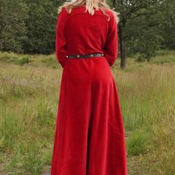 Cotehardie de terciopelo Christina, rojo