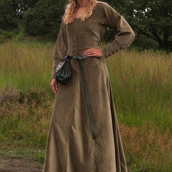 Velvet cotehardie Christina, grøn