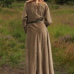 Aksamitna cotehardie Christina, zielona