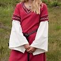 Robe gothique Fiona, rouge-naturel