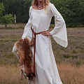 Vestido gótico medieval Iseult, natural
