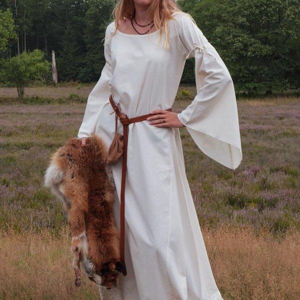 Robe gothique médiévale Iseult, naturel