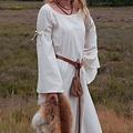 Middeleeuwse gotische jurk Iseult, naturel