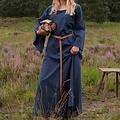 Middeleeuwse gotische jurk Iseult, blauw