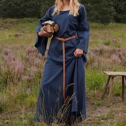 Medeltida gotisk klänning Iseult, blå