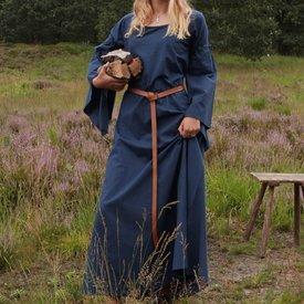 Średniowieczna gotycka sukienka Iseult, niebieska