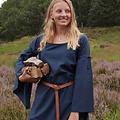 Mittelalterliches Gothic Kleid Iseult, blau