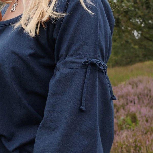 Middelalderlig gotisk kjole Iseult, blå