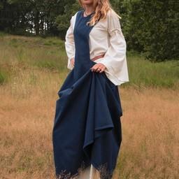 Średniowieczny surcotte Isabeau, niebieski
