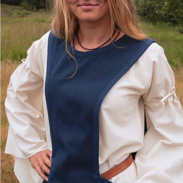 Medeltida surcotte Isabeau, blå