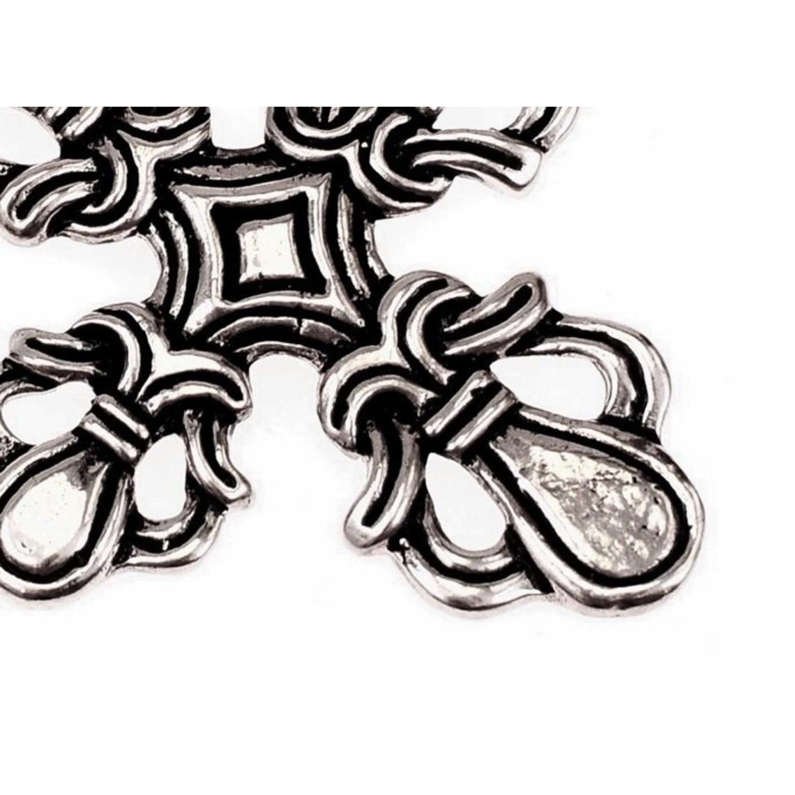 Viking Kreuz Ringerike Stil, versilbert