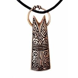 Gotland fish head pendant, bronze
