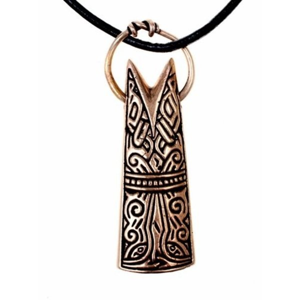 Gotland Vissenkopsieraad amulet, brons