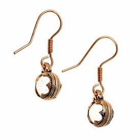 Boucles d'oreilles Gotland cristal de montagne, le bronze