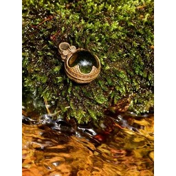 Gotland Viking mountain crystal M, bronze