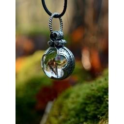 Gotland Viking mountain crystal M, silvered