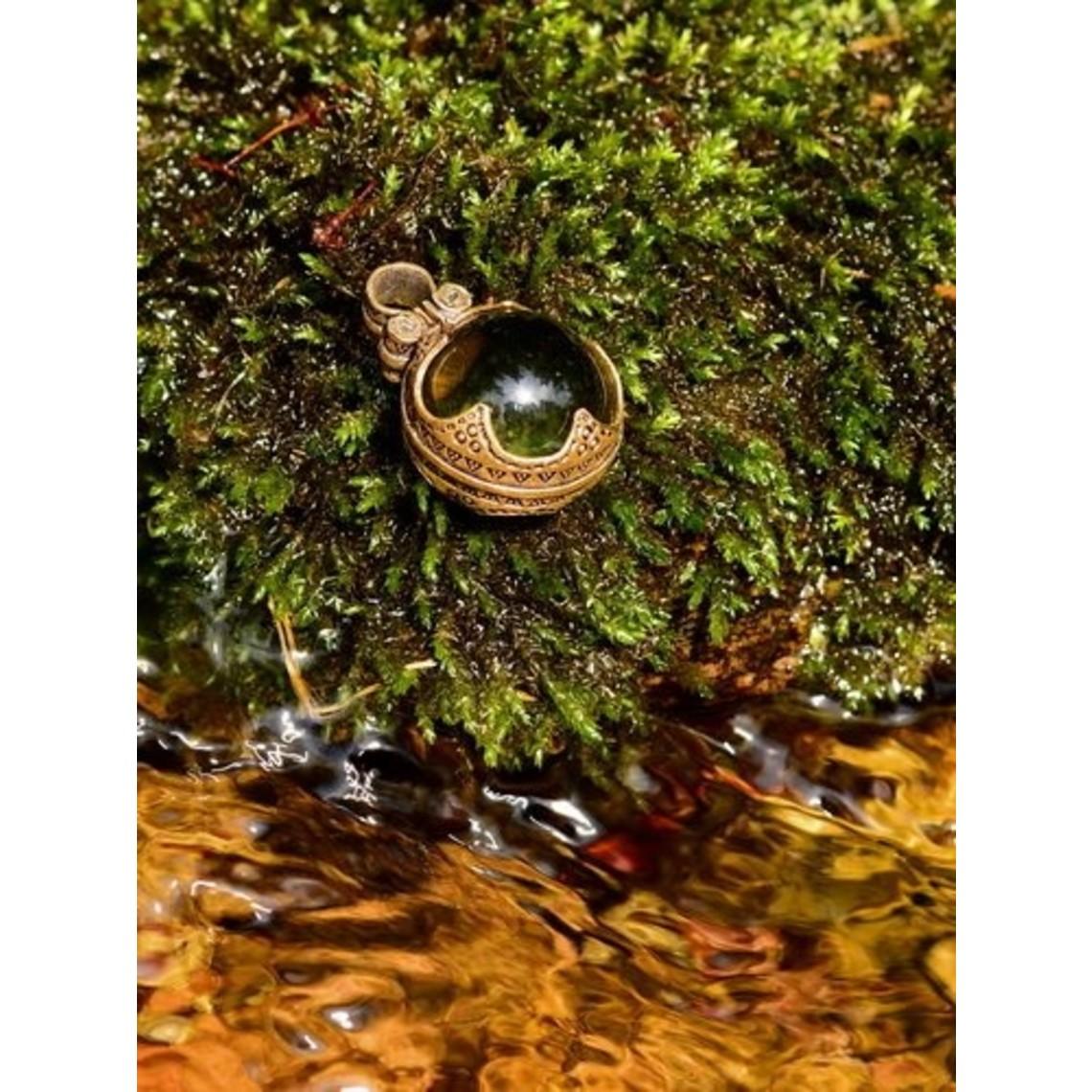 Gotland Vikingo cristal de roca L, bronce