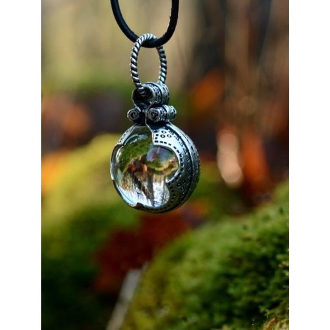 Gotland cristal de montagne Viking L, argentait