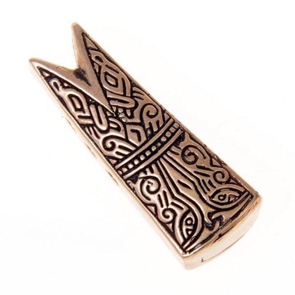 Gotland fisk hoved juvel L, bronze