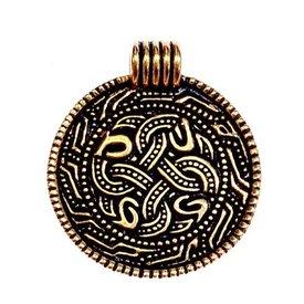 Angelsaksisch slangenamulet, brons