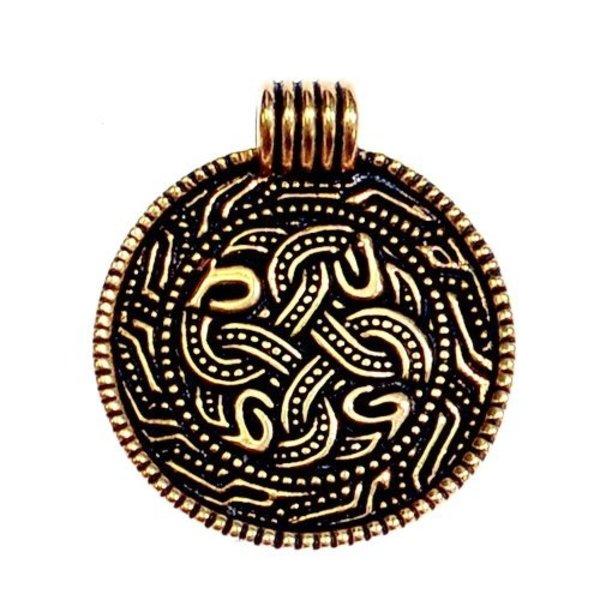 Anglo-Saxon snake amulet, bronze
