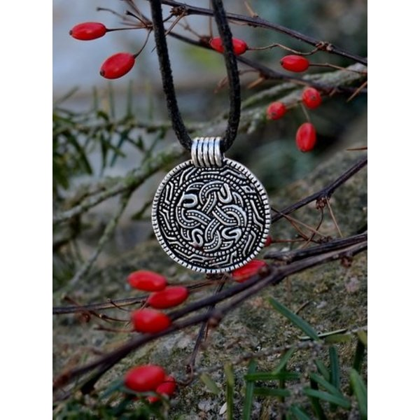 Angelsaksisch slangenamulet, verzilverd