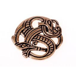 Viking smoka wisior z brązu