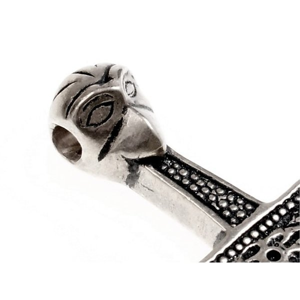 Thors hammer Mandermark, forsølvede