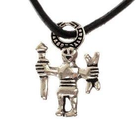 Odin amulett Uppland, försilvrade