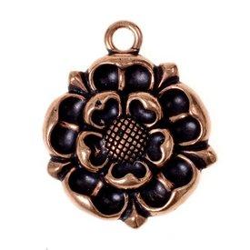 Tudor Rose amulet, bronze