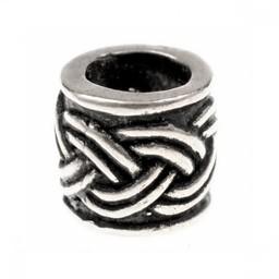 Beard pärla med Celtic knut motiv, försilvrad