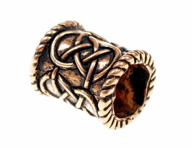 Baardkraal met knoopmotief, brons