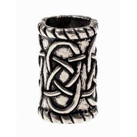 Zylindrische Bartes bead, versilberter