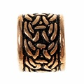 Viking beard bead with knot motif, bronze