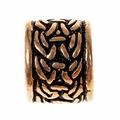Viking cordón de la barba con motivo nudo, bronce