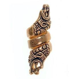 Viking skägg BEAD Haithabu, brons