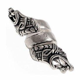 Viking skägg BEAD Haithabu, försilvrade