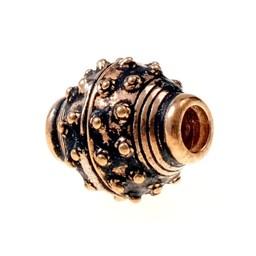 -10 de 9 de siglo de Viking barba de cuentas, bronce
