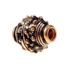 9th-10th century Viking beard bead, bronze