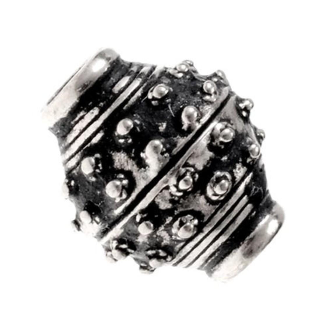 -10 de 9 de siglo de Viking barba de cuentas, bronce plateado