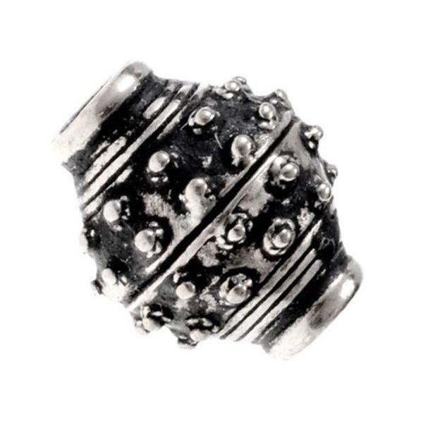 Von 9. bis 10. Jahrhundert Viking Bart Perle, Bronze versilbert
