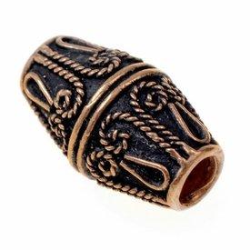 Viking beard bead Rusvik, bronze
