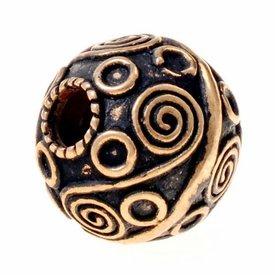 Viking skägg BEAD Birka, brons