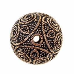 Viking beard bead Uppland, bronze