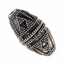Viking bead Telemark, silvered bronze