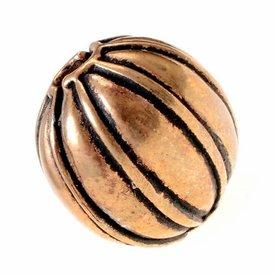 Melon bead, bronze